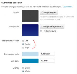 twitter allows customization